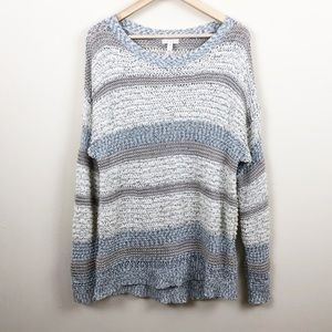 Leith • Shades of Ivory Open Knit Sweater • Med